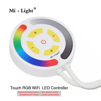 milight YL1 Touch WIFI RGB Led Controller Amazon Alexa voice WIFI Smartphone 2.4G Remote Control Timer Function DC12 24V