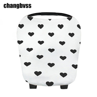 Multifunction White Cotton Baby Stroller Accessories Seat Cover Infant Dinner Chair Cover Outdoor Breastfeeding Cover For
