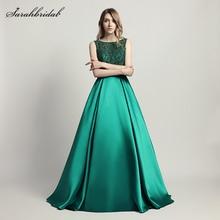 Vestido De Festa 2017 Neue Stile Elegante Lange Abendkleider Eine Linie Kristall Luxus Party Kleider Formale Robe De Soiree LX443