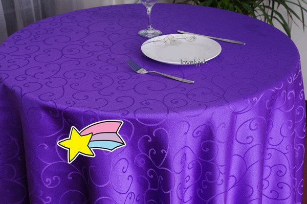Free Shipping Jacquard Hotel Restaurant Square Round Tablecloths Diameter  180cm Purple,Beige,white Tablecloth In Tablecloths From Home U0026 Garden On ...