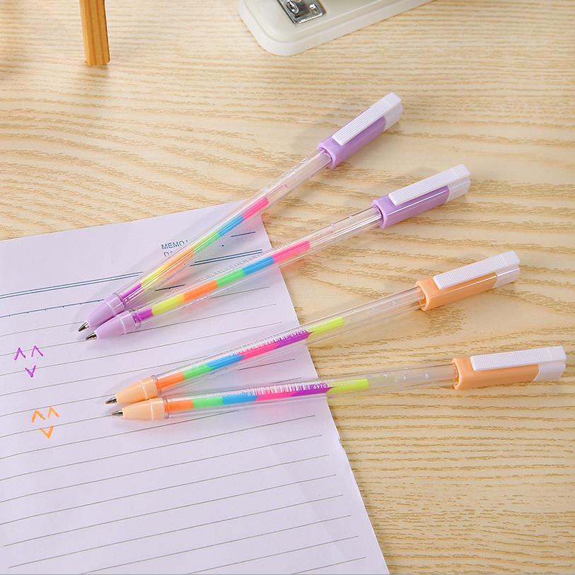 5 pcs/lot Cute Kawaii Gel Pen Refills Multicolor WaterColor Marker Water Highlighter Pen Black Photo Album Scrapbook Decor 04058