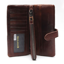 Esiposs male Card Holder wallet Genuine Leather Men trifold Wallet mobile Phone bag men Clutch bag Organizer purse Money Bag(China)