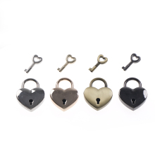 Popular lover Heart Love Locks Old Vintage Antique Style Small Padlock Shaped Couples