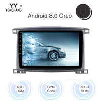 10.2 Android 8.0/7.1 Car DVD Player for Toyota LC 100 Land Cruiser 100 2003 Touch Screen GPS Navigation WIFI Bluetooth RDS