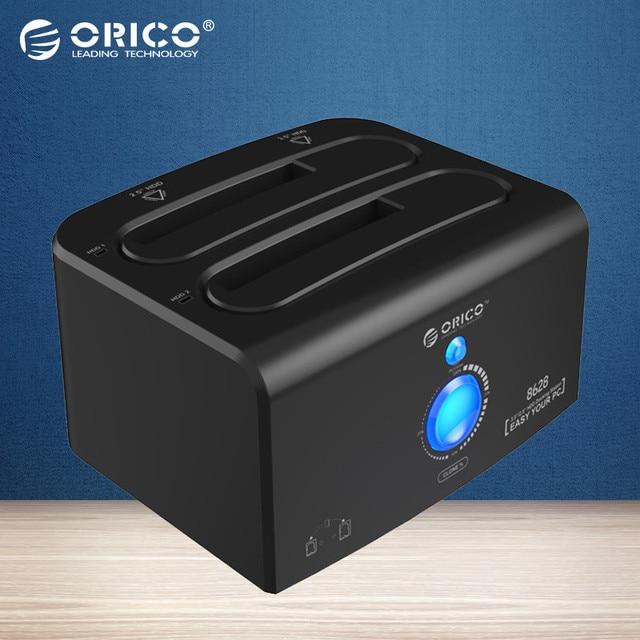 ORICO 2.5 & 3.5 дюймов SATA Жесткий Диск Док-Станция Бесплатный Инструмент SuperSpeed USB3.0 & eSATA 12V4A Питания