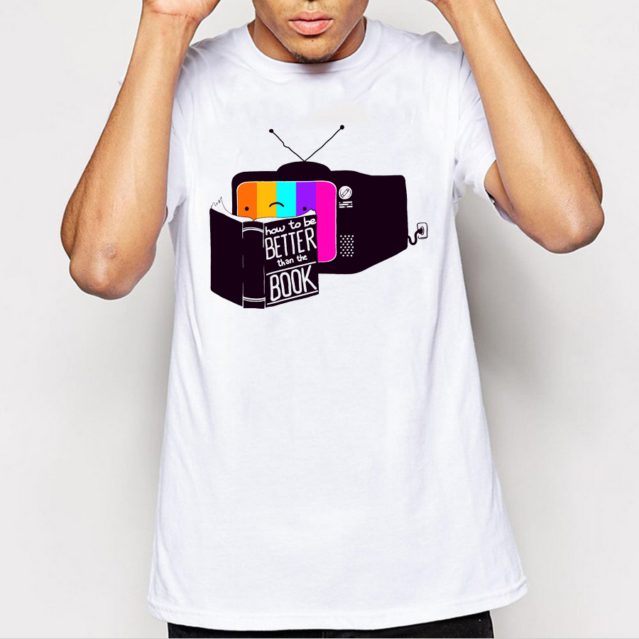 Shirt design book - 2017 Summer Men T Shirts Newest Fashion The Book Was Better Design T Shirt Short