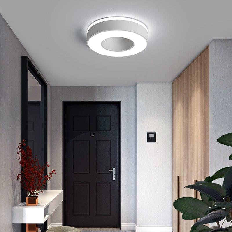 Image 4 - Diameter 240mm Modern LED Ceiling Light For Holly aisle corridor Bedroom Black or White Square/Round/Triangle led Ceiling Lamp-in Ceiling Lights from Lights & Lighting