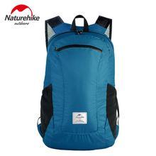 Naturehike 120g Lightweight Foldable Backpack Waterproof Sports Bag 18L Travel Outdoor Backpack 30D Nylon Hiking Backpacks romix rh30 18l foldable polyester outdoor backpack bag