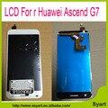 Para huawei ascend g7 monitor de tela tela de lcd full + touch screen digitador de vidro assembléia sensor-preto branco
