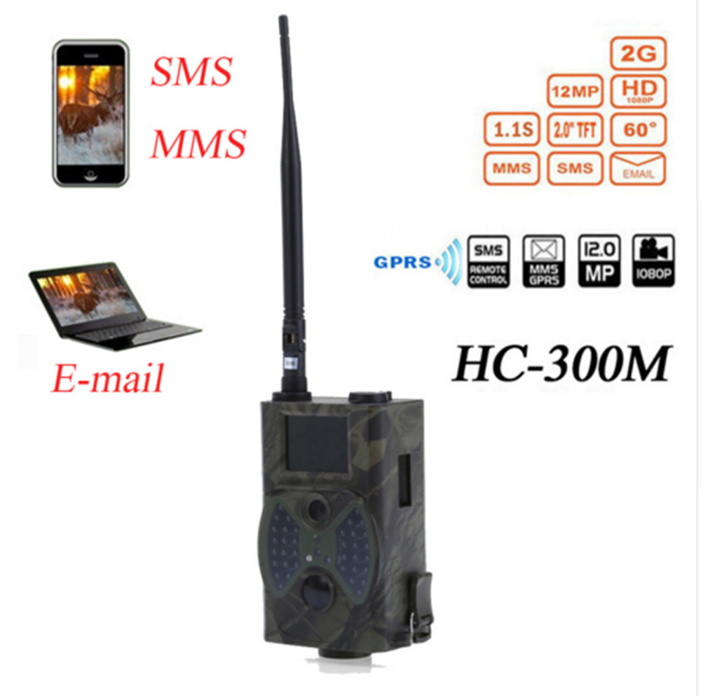 GSM//MMS//SMTP Wildkamera-12MP-940NM-HC300M-Jagd-IR-LED-Digitalkamera-Outdoor