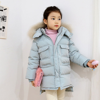 Girls Parkas Hooded Cotton-padded Girls Winter Coat 2018 Brand Kids Thicking Winter Jacket Children Outerwear Clothing 3-10 Yrs