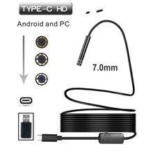 7 مللي متر 1/3/5 متر USB TYPE C منظار فحص كاميرا 6LED HD ل S8 LG G5/G6/V20 بكسل P9/P10 Oneplus 2/3/3T هاتف أندرويد
