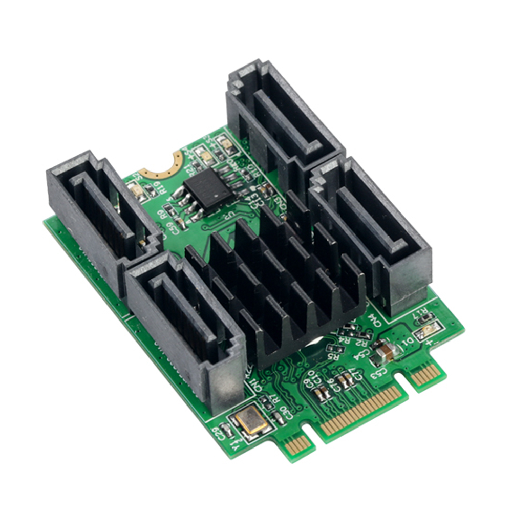 M.2 B + M Key slot to 4 Port SATA 6G Adapter controller Card Support win 8 10 9230 sata3 0 6g array card support