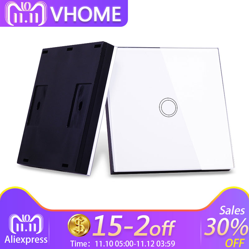 цена на Vhome smart home wireless remote control switch shape RF 433MHZ smart remote control transmitter touch switch home automation