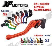 CNC Kurze Adjusatable Bremskupplungshebel Für Honda CBR125R CBR150R 2004-2012 2005 2006 2008 2010 CBR 125R 150R NEUE