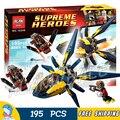 195 pcs bela 10248 super heróis starblaster confronto modelo blocos de construção educacional tijolos compatível com lego