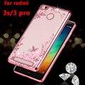 Роскошные мягкие tpu телефон назад коке cover case для Xiaomi redmi3 redmi 3 pro prime 3 s s кремния силиконовый прозрачный алмаз