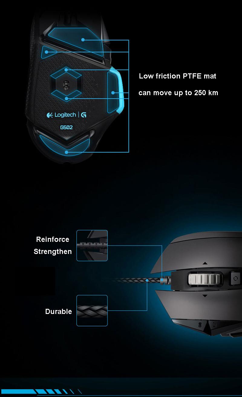 Logitech G402 Best Gaming Mouse Optical Wired Original Tech Brand New Pro Mice Hyperion Fury logitech Logitech G402