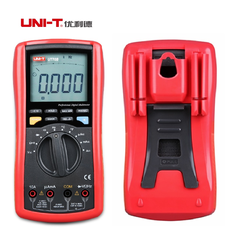 2017 NEW UNI-T UT70B Modern Digital Multi-Purpose Meters Resistance Capacitance Frequency Temperture DMM Auto Ranging Multimeter 1 pcs mastech ms8269 digital auto ranging multimeter dmm test capacitance frequency worldwide store