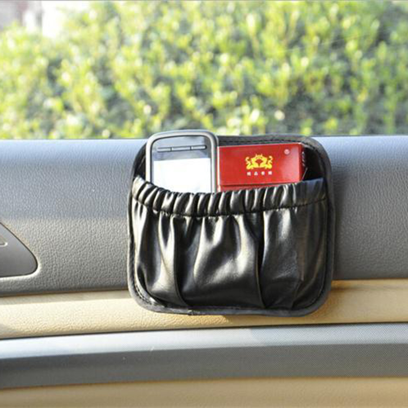 New Arrival Car Interior font b Accessories b font Multi use Black PU Storage Box Sundries