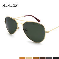 Metal Sunglasses Vintage Quality Drop Shape UV400 Protective Sun Glasses Fit Small Face Men Women & Teenager 1121
