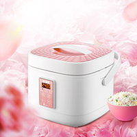 Intelligent Mini Electric Rice Cooker 3L 220V Timing Reservation Multifunctional Electric Cooker Pink