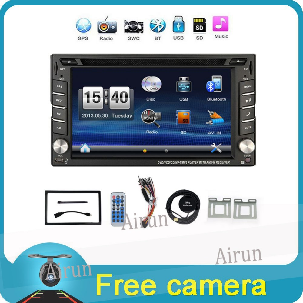 2017 New 6.2 Touch Screen car dvd player gps navigation USB SD Bluetooth FM 2din in dash TFT support rear view camera input