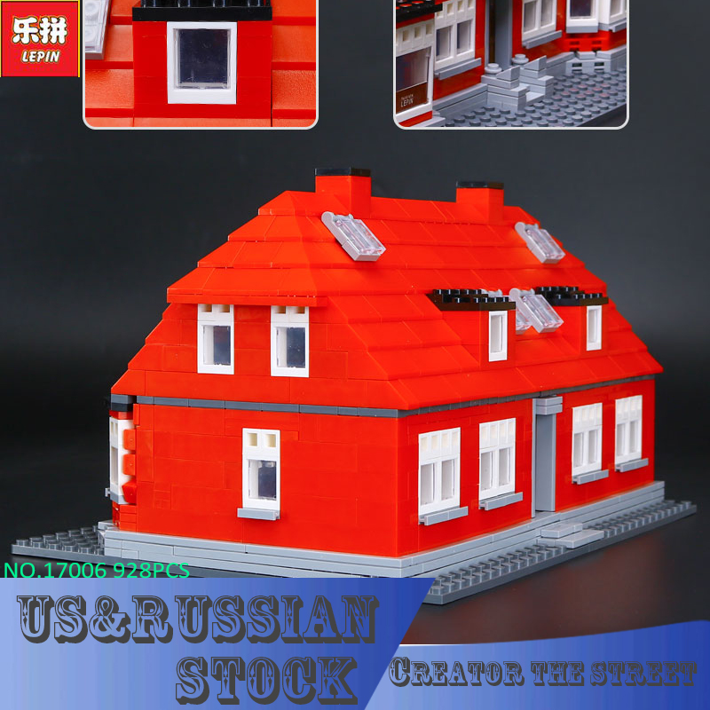 Lepin 17006 928Pcs Creator Serier The Red House Set Education Building Kits Blocks Bricks Model Children Toys Gift lepin creator home 17006 928pcs the red house set model 4000007 building kits blocks bricks educational toys for children gifts