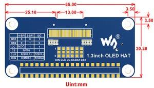 Image 5 - Waveshare 1.3inch OLED Display HAT For Raspberry Pi, 128*64 Pixels, SPI/I2C Interface