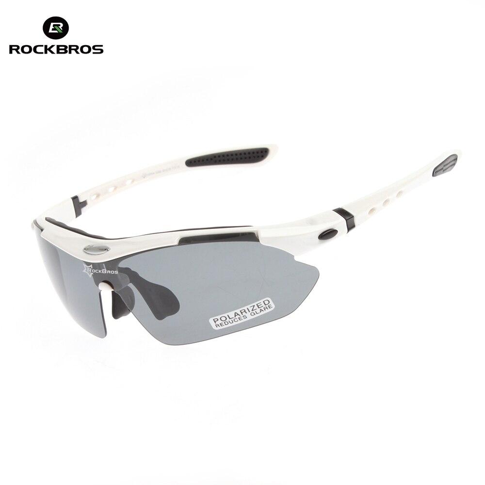 Prix pour ROCKBROS Vélo Lunettes 100% UV Blocage Polarisée Cyclisme Randonnée Escalade lunettes de Soleil Lunettes Lunettes de Soleil Goggle 5 Lentilles