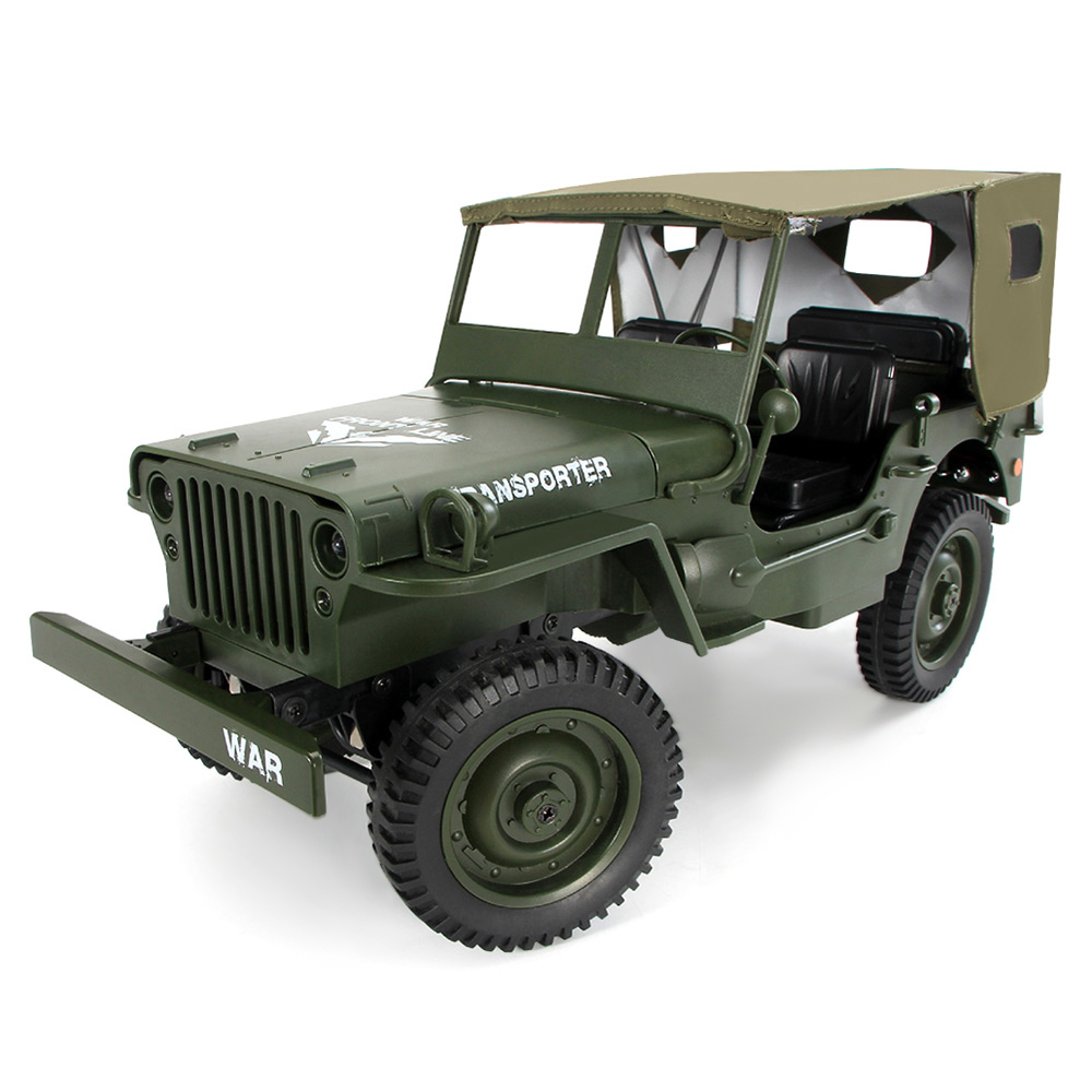 JJRC Q65 1:10 RC Car 2.4G 4WD Convertible Remote Control Light Jeep Four-Wheel Drive Off-Road Military Climbing Car Toy Kid GiftJJRC Q65 1:10 RC Car 2.4G 4WD Convertible Remote Control Light Jeep Four-Wheel Drive Off-Road Military Climbing Car Toy Kid Gift
