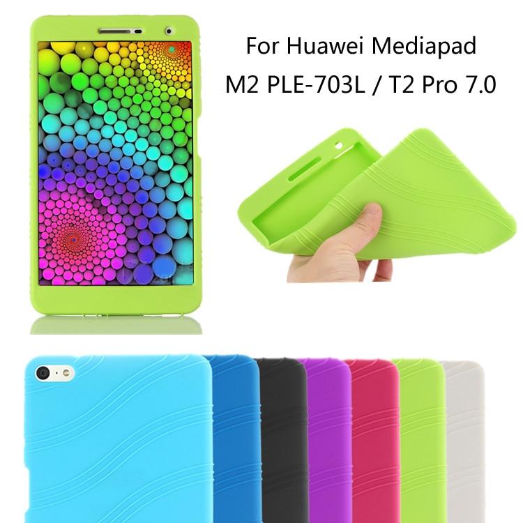 Fashion Shell Ultra Slim Silicon Soft Cover Back Smart Silicone Case For Huawei Mediapad T2 7.0 PRO PLE-703L