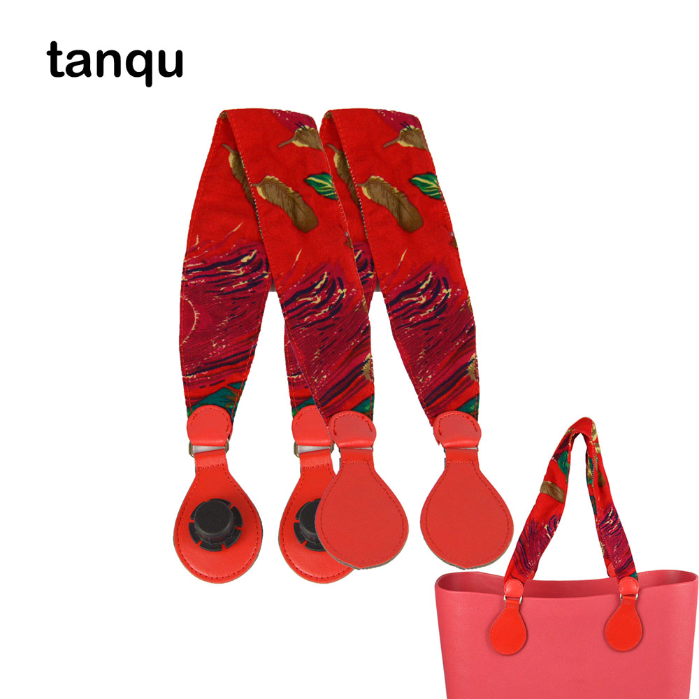 Tanqu 1 Pair Long Soft Fabric Handle With Drop End For Bag O Bag Handles For EVA Obag Handbag Women's Bags