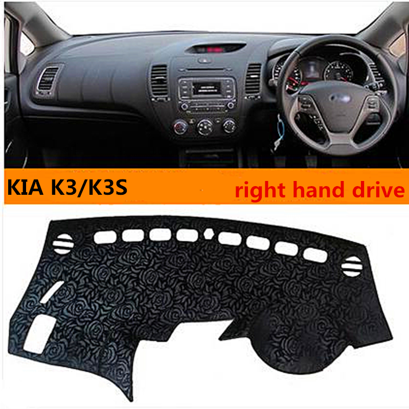 Hot selling right hand dirve elegant style car dashboard pad for KIA K3/k3S avoid light cover for KIA