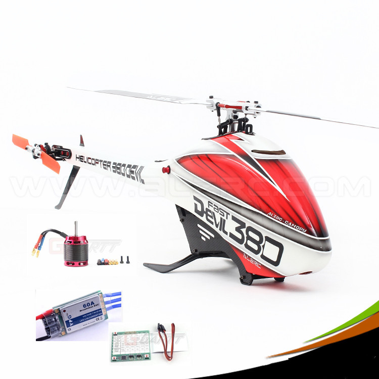 ALZRC - 380 Helicopter Devil 380 FAST FBL Combo - Silver - Standard alzrc devil 450 pro v2 fbl super combo rc helicopter kit rc electric helicopter 480n frame kit power driven helicopter drone