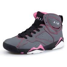 Zapatos de Baloncesto de Corte media de Las Mujeres Con Cordones de las Zapatillas de deporte Deportes Al Aire Libre Calzado Antideslizante Transpirable Zapatos Mujer Tenis Basquete Scarpe