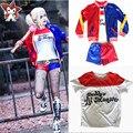 Girls Kids Suicide Squad Harley Quinn JOKER Cosplay Costume Halloween Children's Day Gift jacket costumes