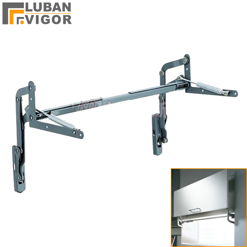 Best choose Air operated hinge on the vertical lift Translational pneumatic turning bracket Home Furniture Hardware