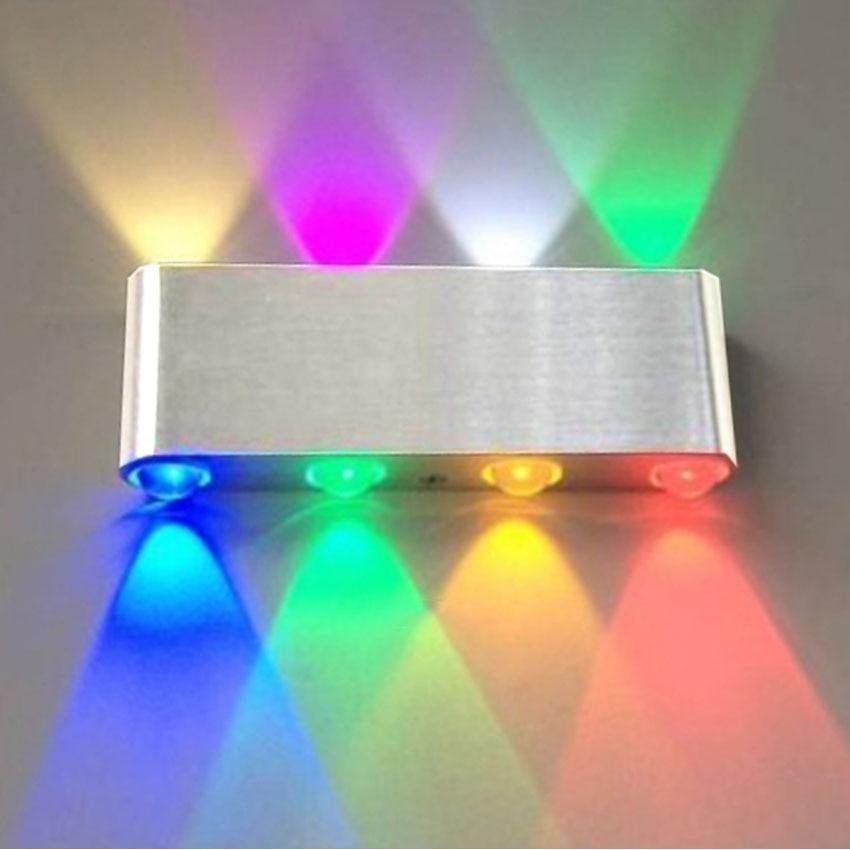 ФОТО Indoor Fashion UP&Down 8W LED Wall Lamp AC100V/220V Acrylic Abajur Material Aluminum Decorative Sconce Bar Bedroom Wall Light