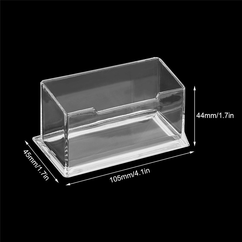 1pcs Clear Business Card Holder Box Display Stand Desk Desktop Countertop Business Card Holder Desk Shelf Box Storage Box-in Storage Boxes & Bins from ...