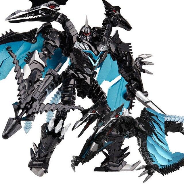 wei jiang oversize 27cm transformation 5 dark black robot toy alloy
