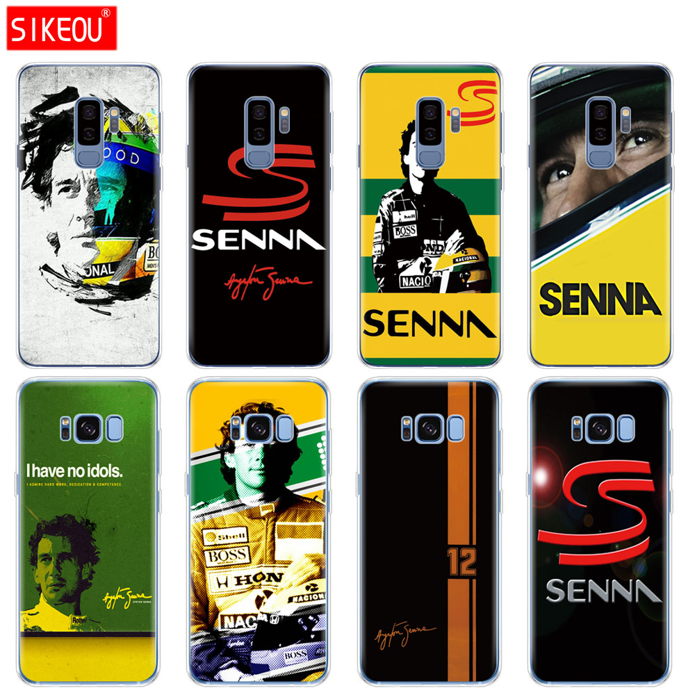 silicone case for Samsung Galaxy S9 S8 S7 S6 edge S5 S4 S3 PLUS phone cover Ayrton Senna