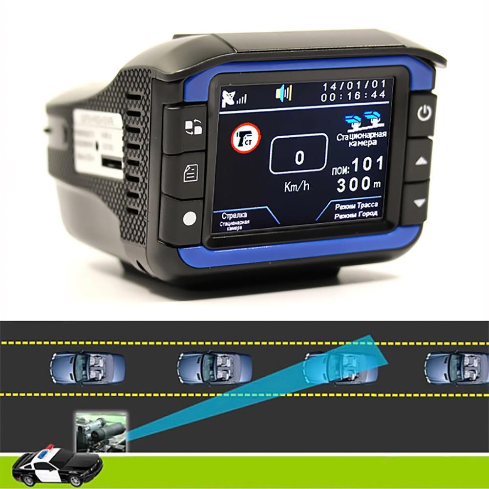 2 In 1 Anti Laser Car Radar Detector Dash Cam Car DVR Camera Recorder 140 Degree Dashcam HD 720P English And Russian Voice