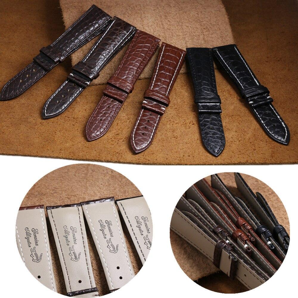 Crocodile Alligator peau en cuir véritable bracelet de montre ceinture montre bracelet Bracelets pour Cartier 12/13/14/15/16/17/18/19/20/21/22/23mm