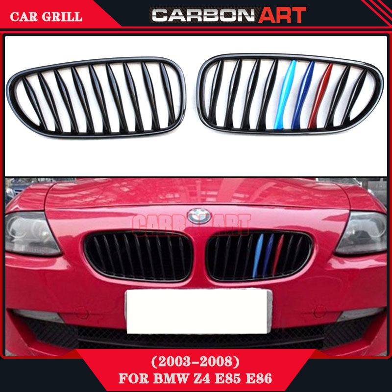 2003 2008 Glossy M Tri Color Z4 E85 Car Grill On Sale For Bmw