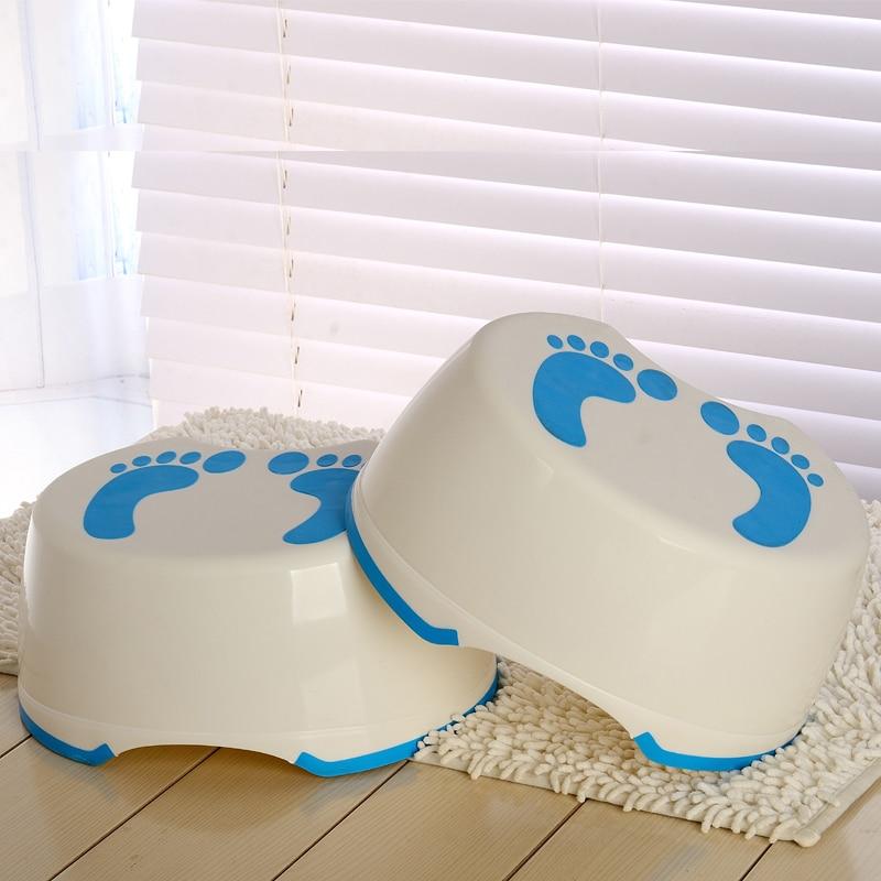 Children Bathroom Stool Slip-resistant Step Pads Anti-skid Headblock Foot Pedal Steps Bath Stair Toilet Stool