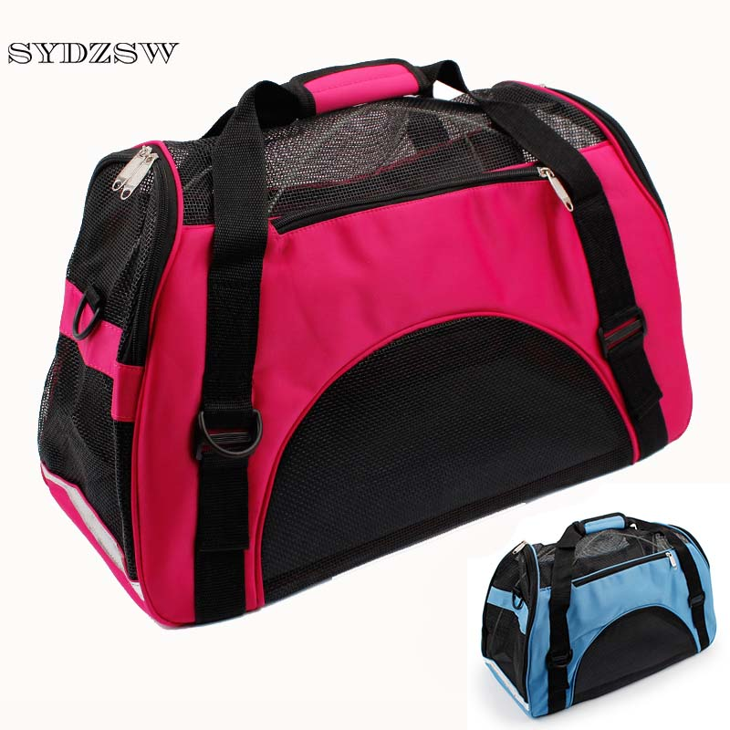 SYDZSW Pet Dog Accessories Breathable Mesh Fashion Dog Carrier Bag Puppy Pet Travel Bags for Small Dogs Cats Chihuahua Cage Hot