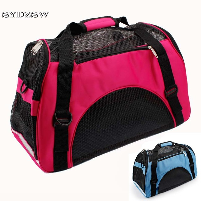 Sydzsw Pet Dog Accessories Breathable Mesh Fashion Carrier Bag Puppy Travel Bags For Small