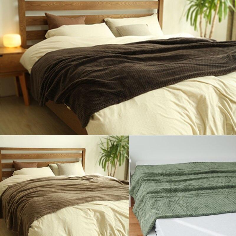 Fashion Solid Color Mesh Net Plush Soft Flannel Fleece