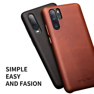 Image 3 - QIALINO אופנה אמיתי עור Ultra Slim טלפון מקרה עבור Huawei P30 פרו 6.47 אינץ יוקרה בעבודת יד חזרה כיסוי עבור Huawei p30